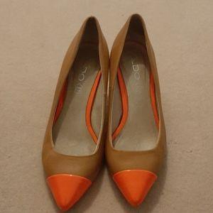 Orange n tan heels